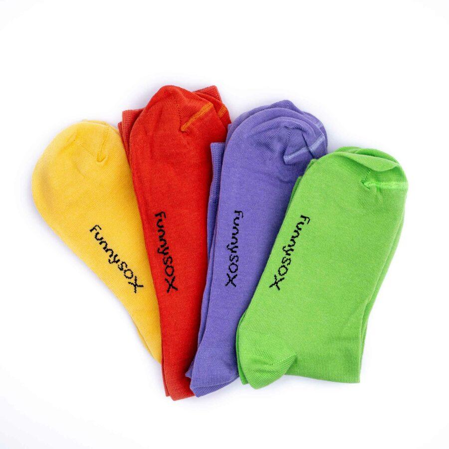 jednofarebné ponožky